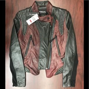 Members only Genuine leather bureaux /Black,NWT